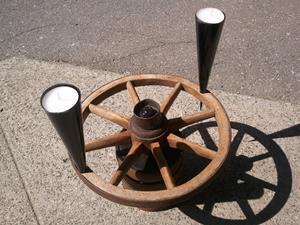 Wagenrad Kerzenhalter