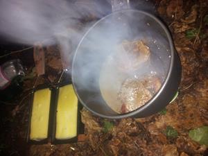 Menü: Raclette mit Hirschmedaillons